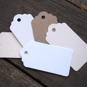 recycled card gift tags