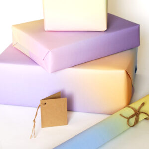 soft sky colours gift wrap
